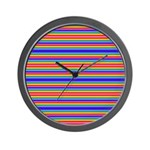 Tiny stripes of rainbow colors Wall Clock