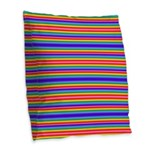 Tiny stripes of rainbow colors Burlap Throw Pillow