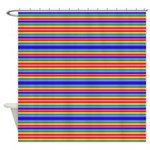 Tiny stripes of rainbow colors Shower Curtain