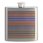 Tiny stripes of rainbow colors Flask