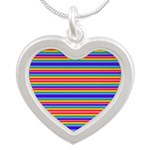 Tiny stripes of rainbow colors Necklaces