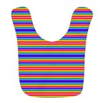 Tiny stripes of rainbow colors Bib