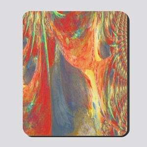 Abstract Flower Bouquet in Red, Blue and Mousepad