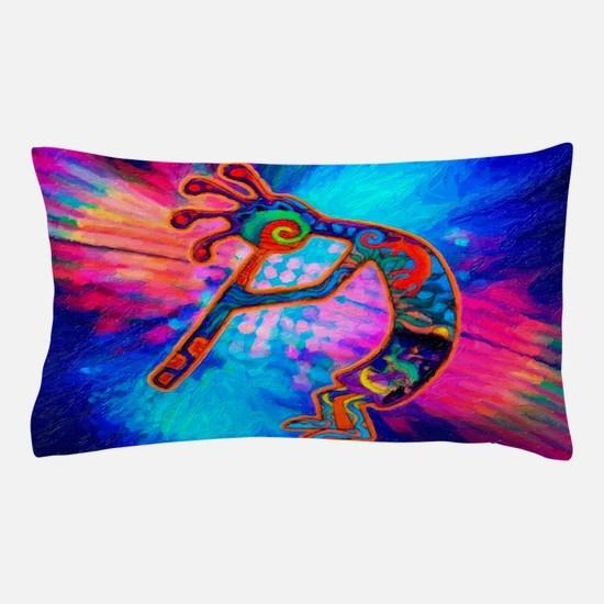 Rainbow Kokopelli 2 Pillow Case