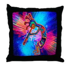 Rainbow Kokopelli 2 Throw Pillow