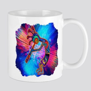 Rainbow Kokopelli 2 Mug Mugs