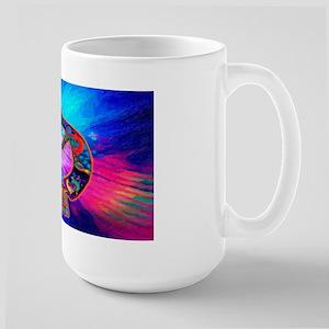 Rainbow Kokopelli 2 Large Mug Mugs