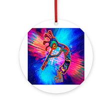 Rainbow Kokopelli 2 Ornament (round)
