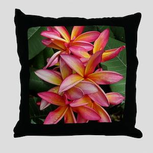 Hawaiian Plumeria Throw Pillow