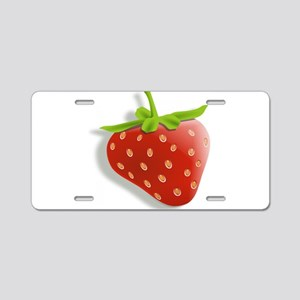 Strawberry Aluminum License Plate