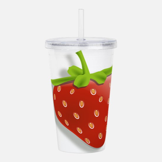 Strawberry Acrylic Double-wall Tumbler