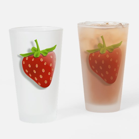 Strawberry Drinking Glass