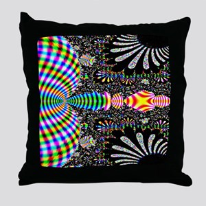 Black-and-Color-Laptop-SKin Throw Pillow