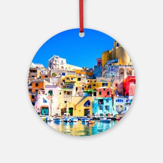 Naples Italy Ornament (Round)