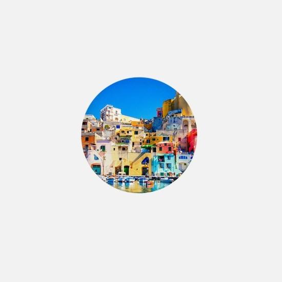 Naples Italy Mini Button