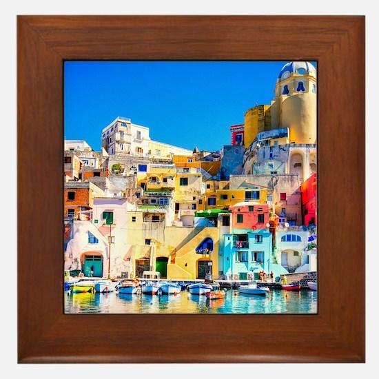 Naples Italy Framed Tile