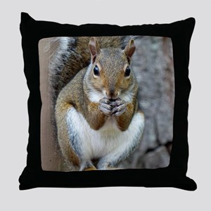 Enjoying a Treat Throw Pillow