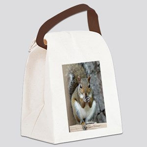 Enjoying a Treat Canvas Lunch Bag