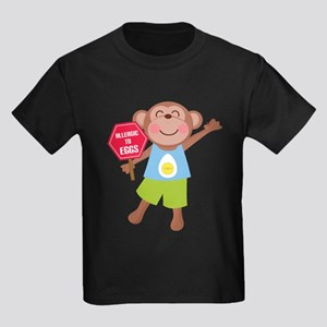 Egg Allergy Kids Dark T-Shirt