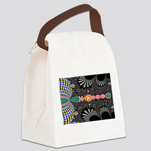 Black Shell Fractal art Canvas Lunch Bag