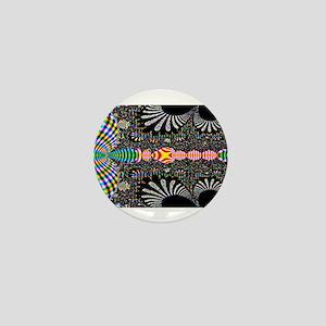 Black Shell Fractal art Mini Button