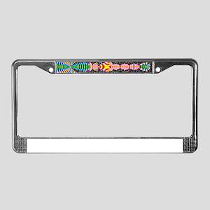 Black Shell Fractal art License Plate Frame