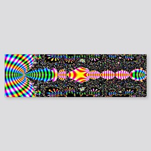 Black Shell Fractal art Bumper Sticker