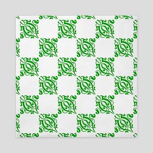 Decorative Green Damask Queen Duvet