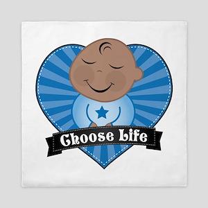 Choose Pro-Life Queen Duvet