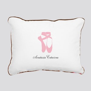 Team Pointe Ballet Pink Rectangular Canvas Pillow