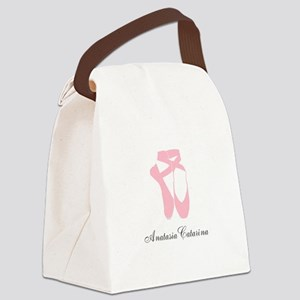 Team Pointe Ballet Pink Personali Canvas Lunch Bag