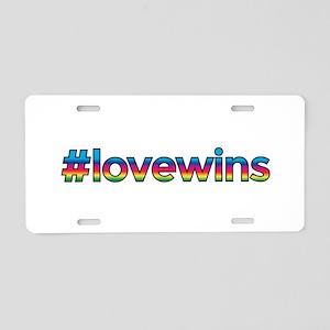 #lovewins Aluminum License Plate