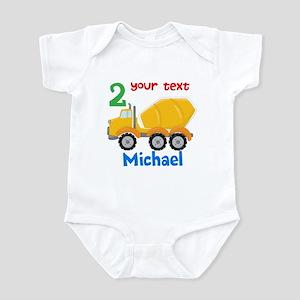 Concrete Mixer Infant Bodysuit