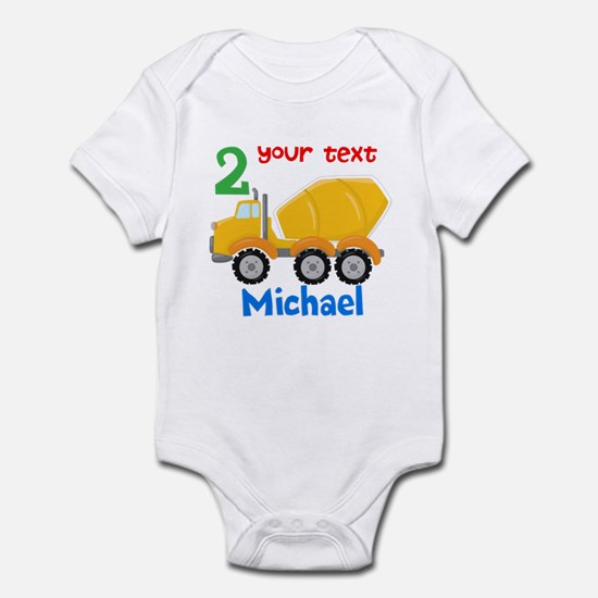 Concrete Mixer Infant Bodysuit