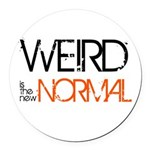 Weird is the New Normal Round Car Magnet