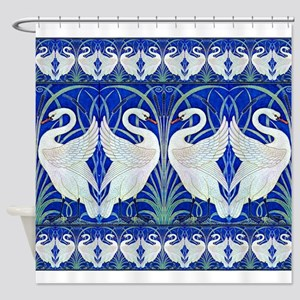 The Swans By Walter Crane Shower Curtain