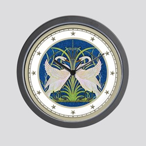 The Swans By Walter Crane Wall Clock