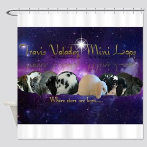 Travis Valadez Mini Lops Shower Curtain