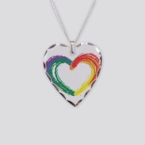 Love Wins Necklace Heart Charm