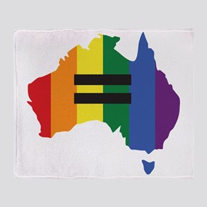 LGBT equality Australia Throw Blanket
