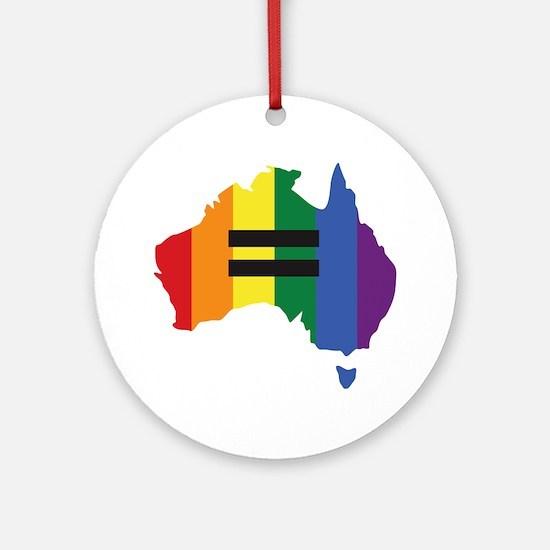 LGBT equality Australia Round Ornament