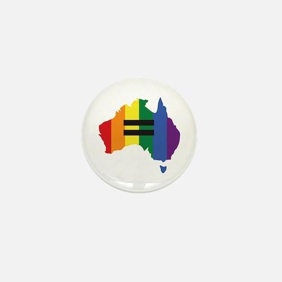 LGBT equality Australia Mini Button