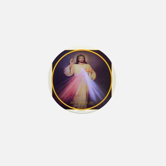 Divine Mercy Gold Mini Button