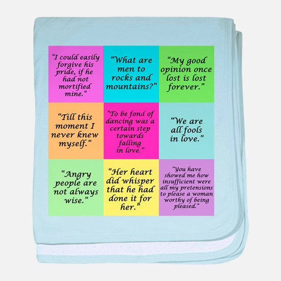 Pride and Prejudice Quotes baby blanket