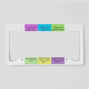 Pride and Prejudice Quotes License Plate Holder