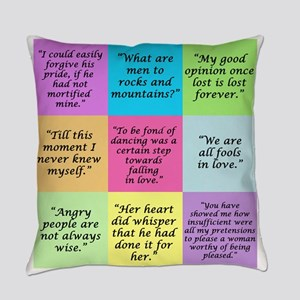 Pride and Prejudice Quotes Everyday Pillow