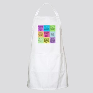 Pride and Prejudice Quotes Apron