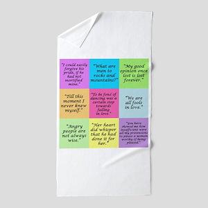 Pride and Prejudice Quotes Beach Towel