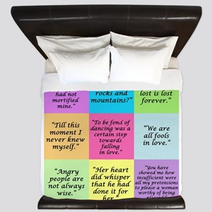 Pride and Prejudice Quotes King Duvet