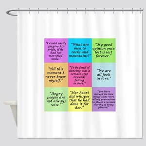 Pride and Prejudice Quotes Shower Curtain
